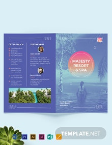 Spa Resort Bi-Fold Brochure Template