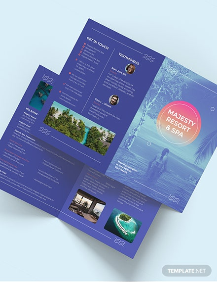 Spa Resort BiFold Brochure Download