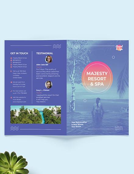 Spa Resort Bi-Fold Brochure Template