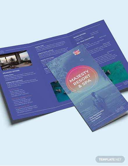 Sample Spa Resort TriFold Brochure