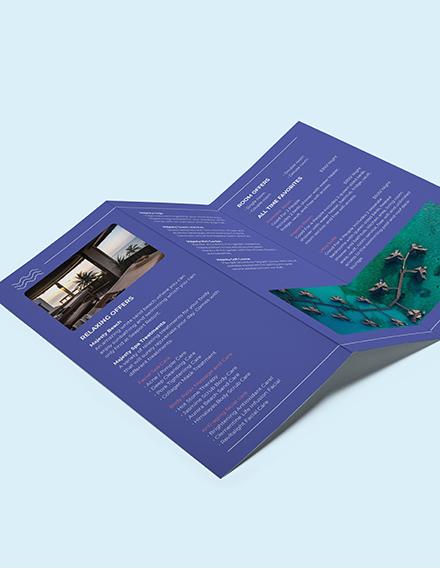 Spa Resort TriFold Brochure Download