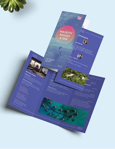 Spa Resort Tri-Fold Brochure Template