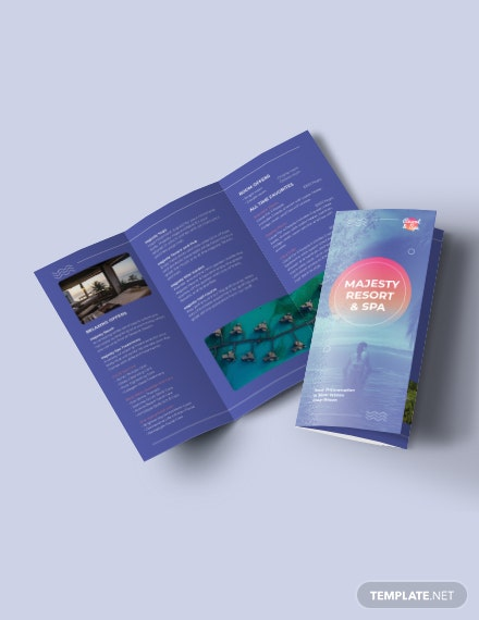 Spa Resort Tri-Fold Brochure Template