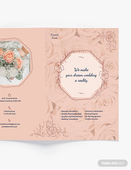 Sample Wedding Event Planner BiFold Brochure