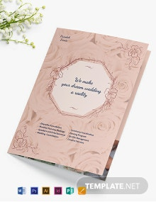 Wedding Event Planner Bi-Fold Brochure Template
