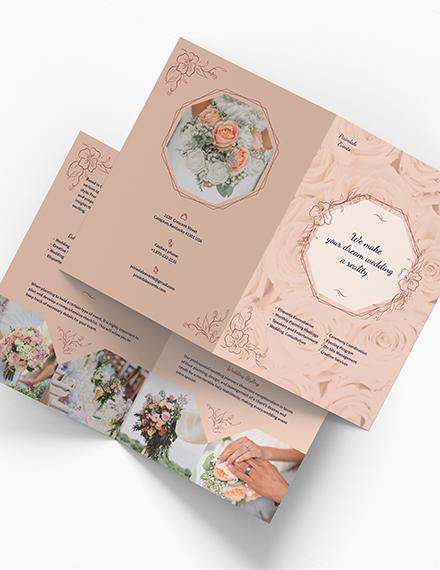 Wedding Event Planner BiFold Brochure Download