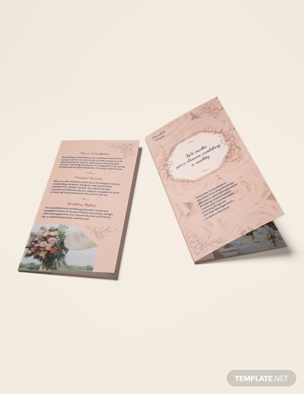 Wedding Event Planner TriFold Brochure Download
