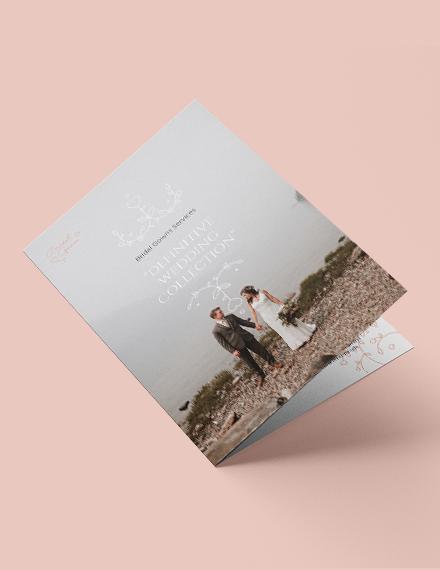 Wedding Planner Bi-Fold Brochure Template