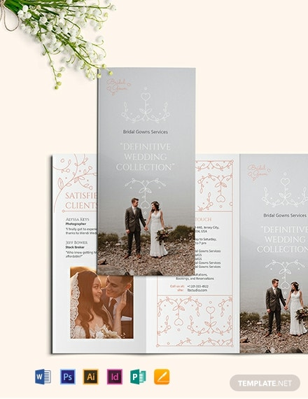 Wedding Planner Tri-Fold Brochure Template