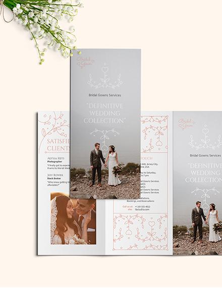 Wedding Planner Tri-Fold Brochure Template