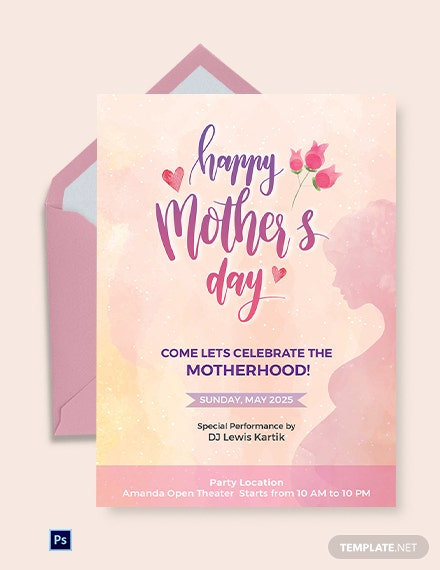 Free Mother's Day Invitation Template