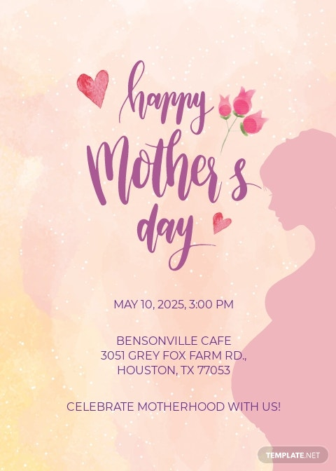 Mother's Day Invitation Template