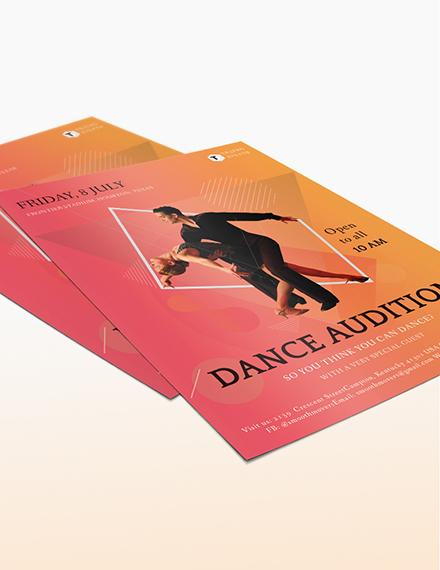 Dance Audition Flyer Download
