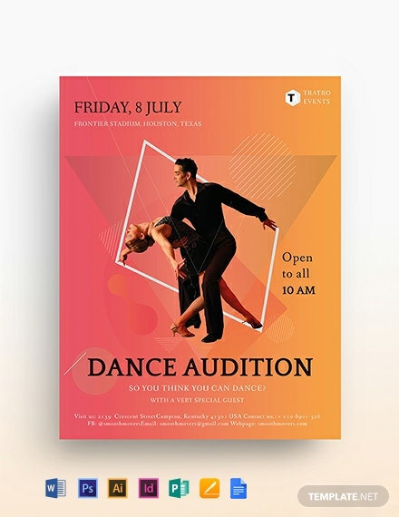 Dance Audition Flyer Template