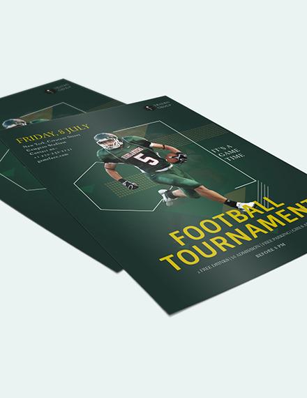 Sample Football Game Flyer