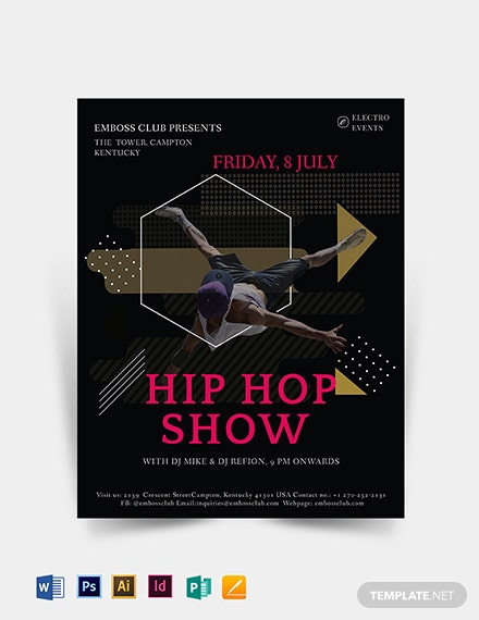 Hip Hop show Flyer Template