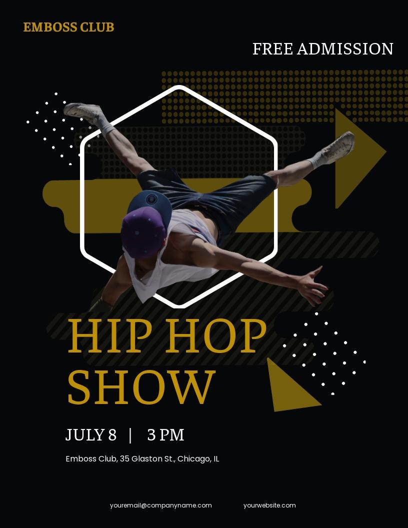 Hip Hop show Flyer Template