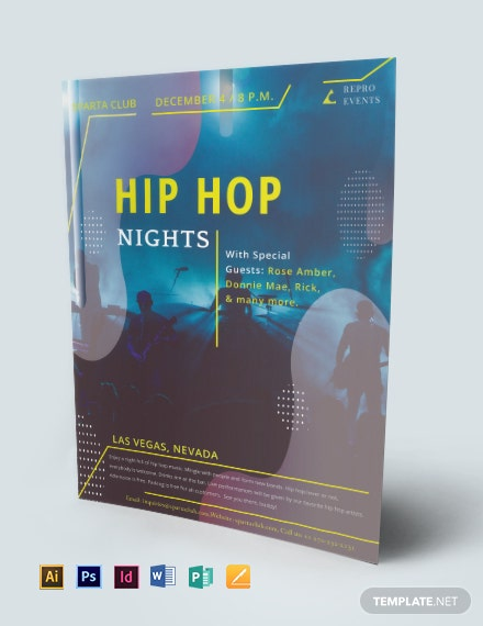 hip hop music flyer 440