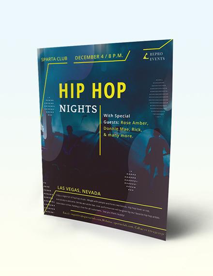 Hip Hop Music Flyer Download