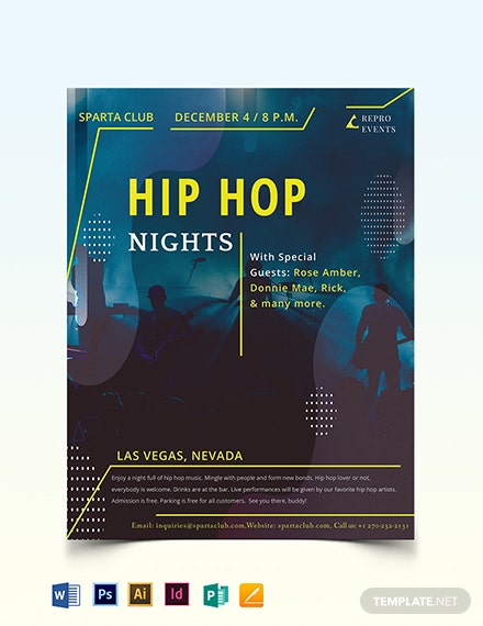 Hip Hop Music Flyer Template
