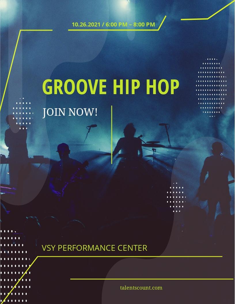 Hip Hop Music Flyer Template