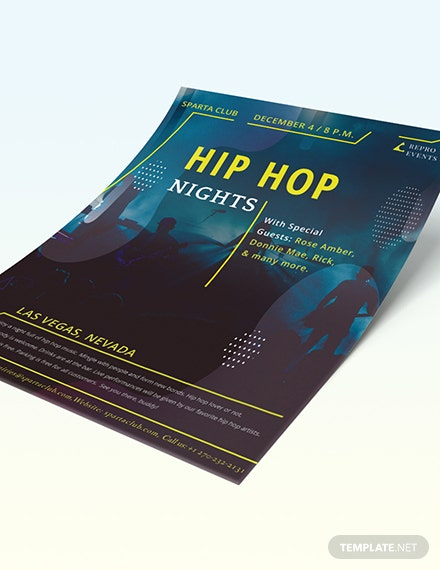 Sample Hip Hop Music Flyer