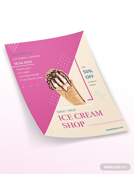 Ice Cream Shop Flyer Download