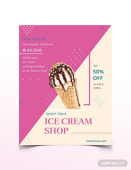 Ice Cream Shop Flyer Template