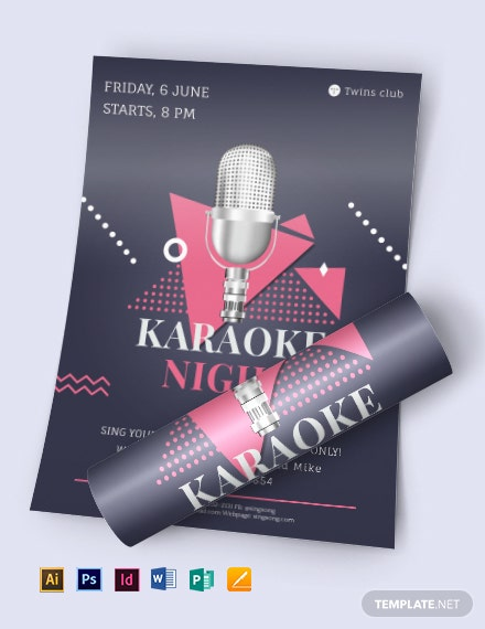 karaoke night flyer 440