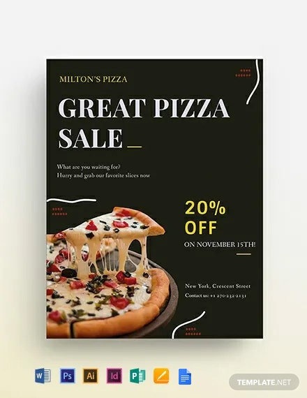 Pizza Sale Flyer Template