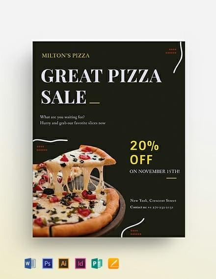 Pizza Sale Flyer Template