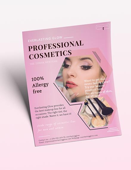 Professional Cosmetics Flyer Download