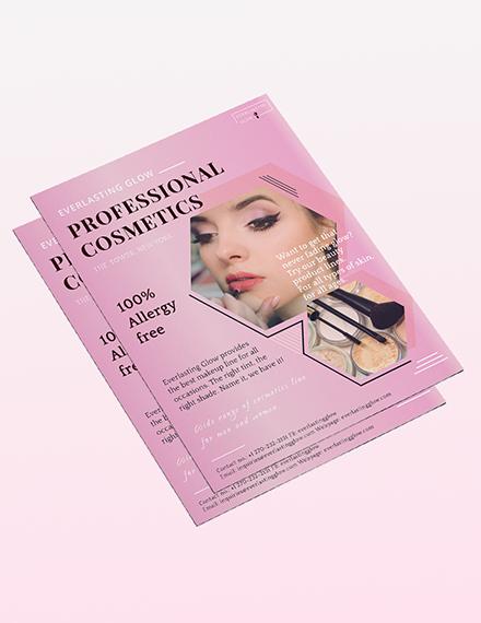 Professional Cosmetics Flyer Sample
