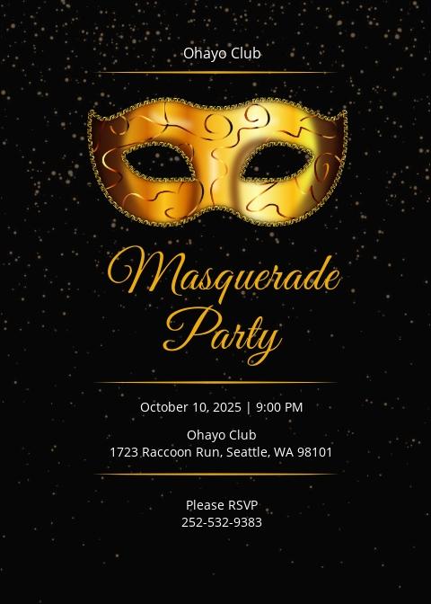 Masquerade Party Invitation Template.jpe