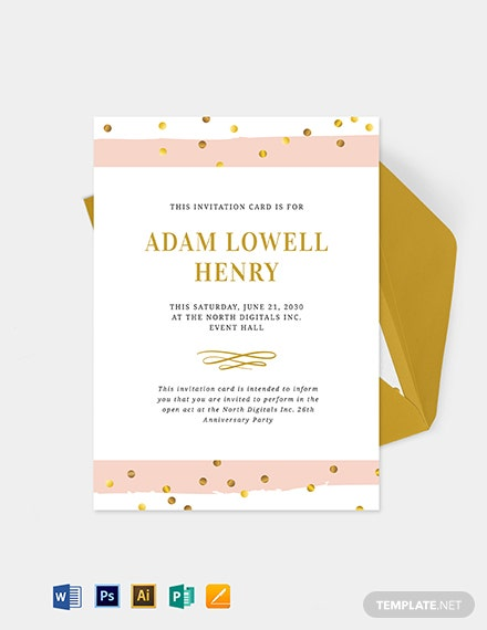 Opening Event Invitation Template