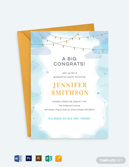 Preschool Graduation Invitation Template