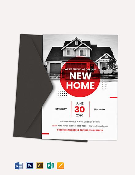 Real Estate Open House Invitation Template