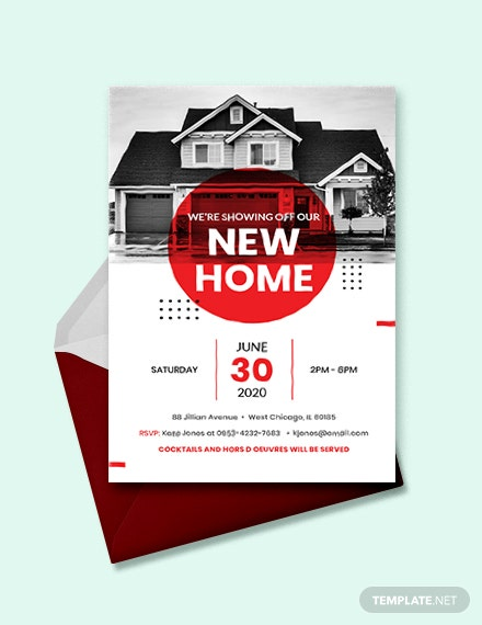 real estate open house invitation