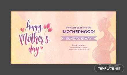 Free Mother's Day LinkedIn Profile Banner Template