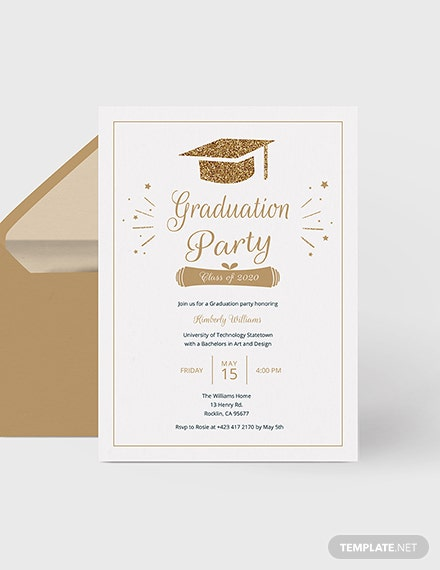 College Graduation Invitation Download