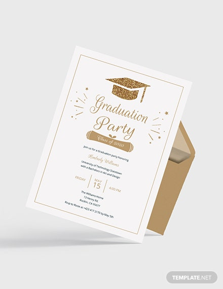 Sample College Graduation Invitation