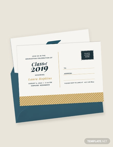 Graduation Postcard Invitation Download