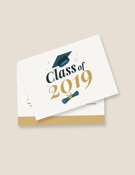 Graduation Postcard Invitation Template