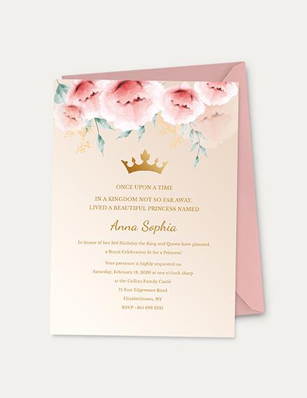 Princess Invitation Download