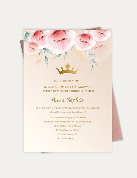 Sample Princess Invitation