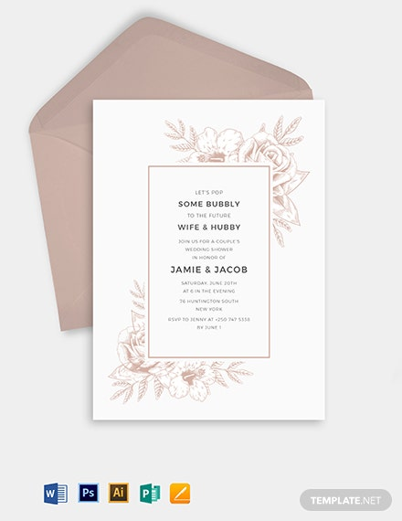 wedding shower invitation template 1