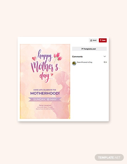 Free Mother's Day Pinterest Pin Template