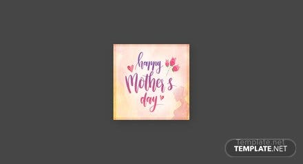 Free Mother's Day Pinterest Profile Photo Template