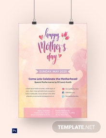 Free Mother's Day Poster Template