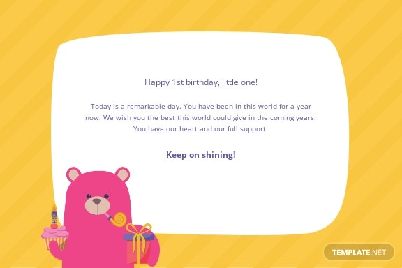 1st Birthday Greeting Card Template 1.jpe